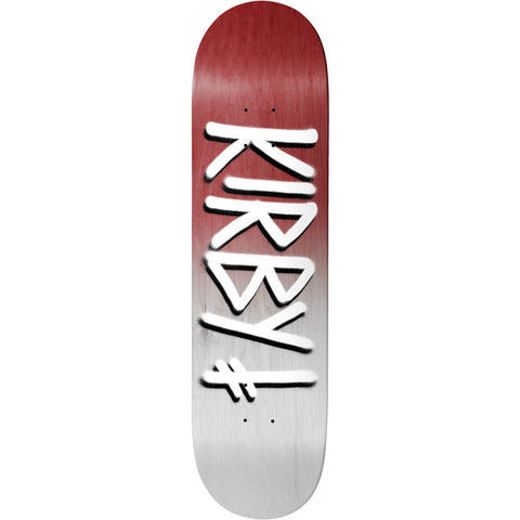 Kirby Burgandy White Gang Name Deck 8.5