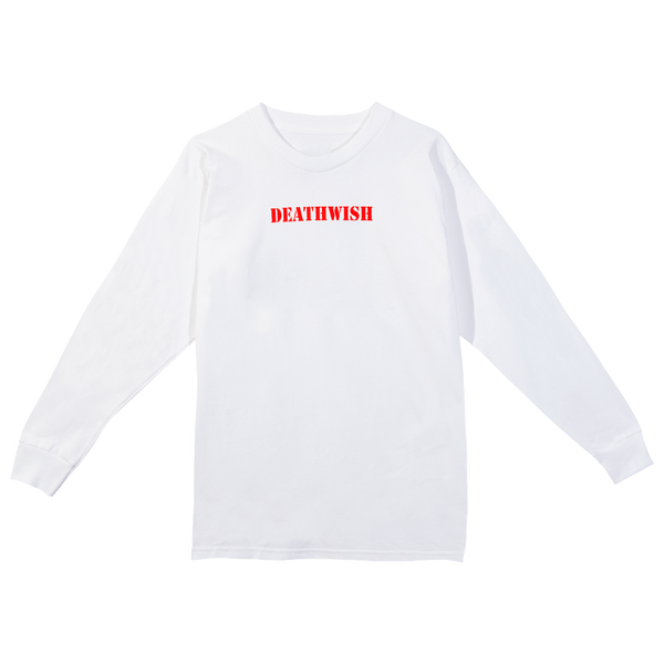 Driver Long Sleeve Tee White