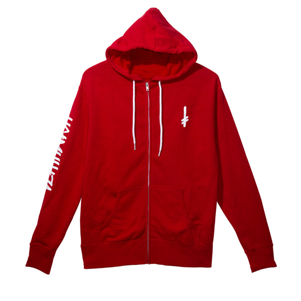 LANDMARK ZIP UP RED/WHITE
