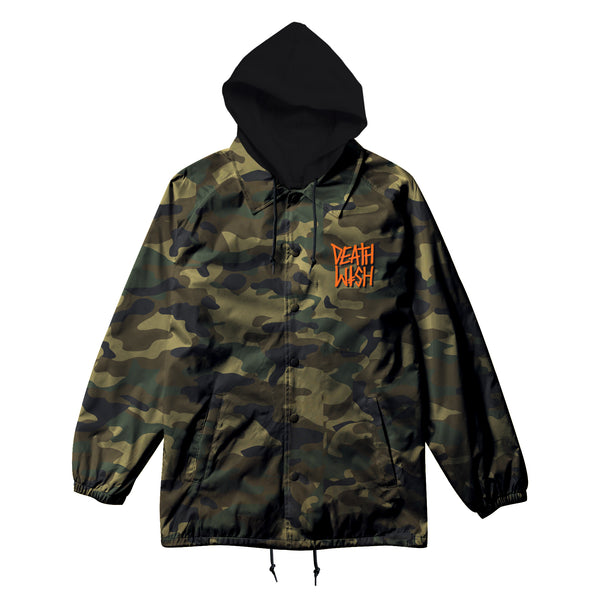 THE TRUTH CAMO HOODED COACHES JACKET