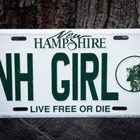 License Plate-NH Girl