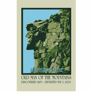 Old Man of the Mountain 11 x 17 Poster