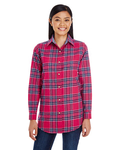 Ladies Yarn-Dyed Flannel Shirt