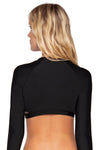Swim Systems Black  Rebel Crop