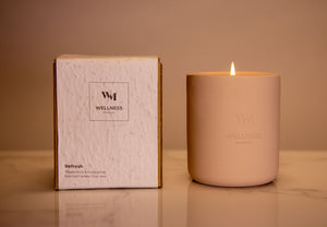 1 Wick Unwind & Refresh Soy Scented Candle Collection - Wellness By Manuel