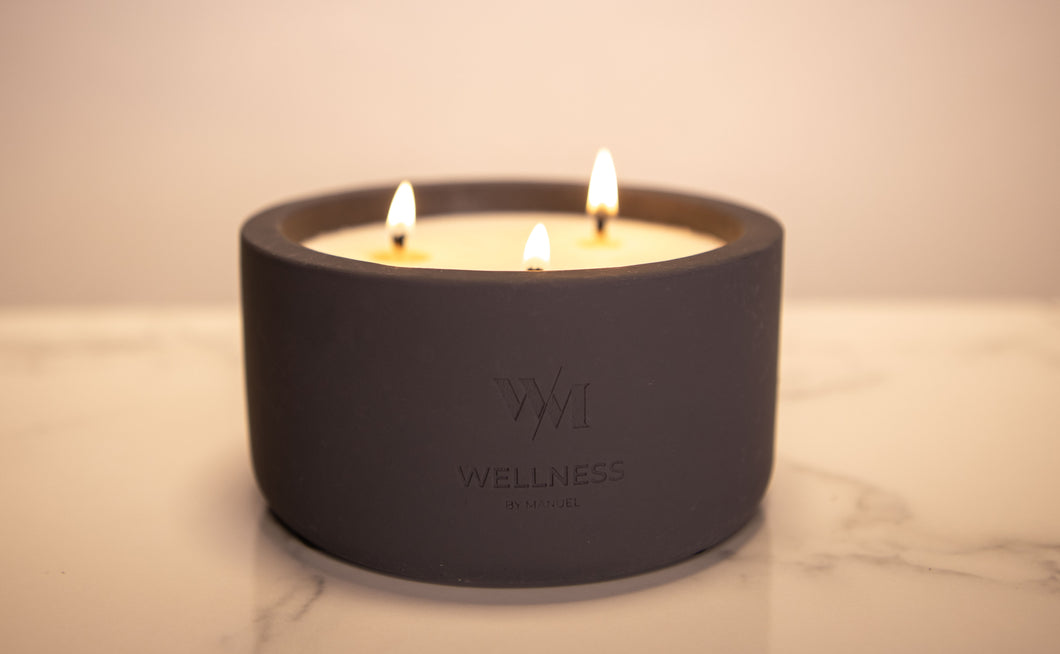 Unwind Aromatherapy Soy Scented Candle - 3 Wick - Wellness By Manuel