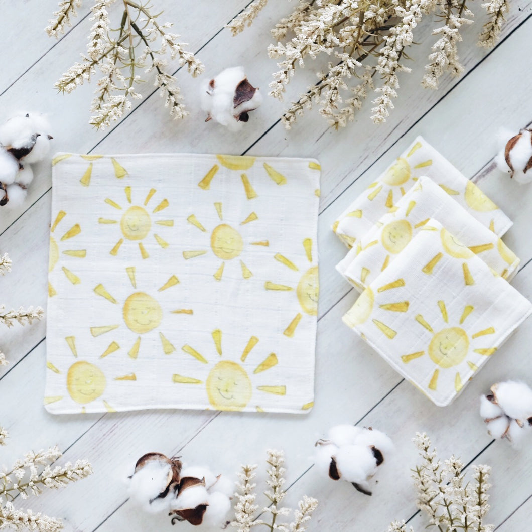 Happy Sunshine Organic Cotton Washcloth