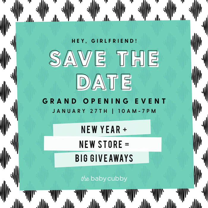 A New Year + A New Store Means A Grand Opening Celebration for The Baby Cubby!