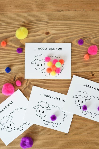 """I Wooly Like You"" Valentines"