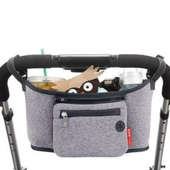 Grab and go stroller organizer heather gray color