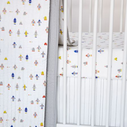 Little Auggie Crib Sheets Robots