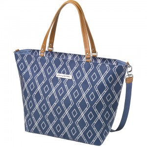 Altogether Tote – Glazed Coated Canvas – Indigo