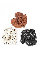 Spotted Hair Scrunchies Set