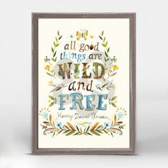"""""""all things are wild and free"""" wall hanging"""