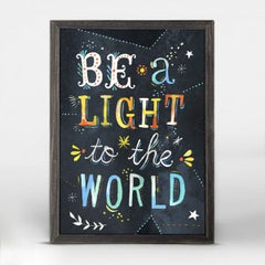 """""""be a light to the world"""" wall hanging"""