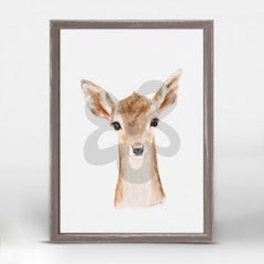 fawn portrait canvas art wall hanging