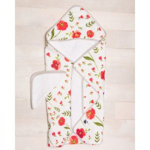 LU Cotton Hooded Towel and Washcloth
