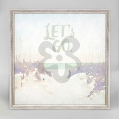 """""""Let's Go"""" wall hanging"""