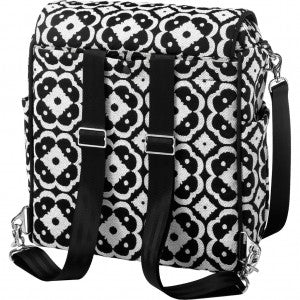 back of Boxy Backpack in Licorice Blossom