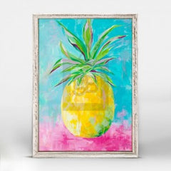 painted pineapple small art print wall hanging