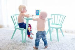 2 little boys playing together