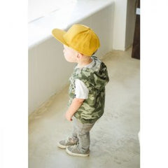 Boy in a yellow hat from Jack and Winn