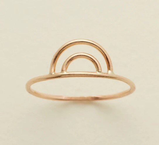 Gold Filled Rainbow Ring - MBM