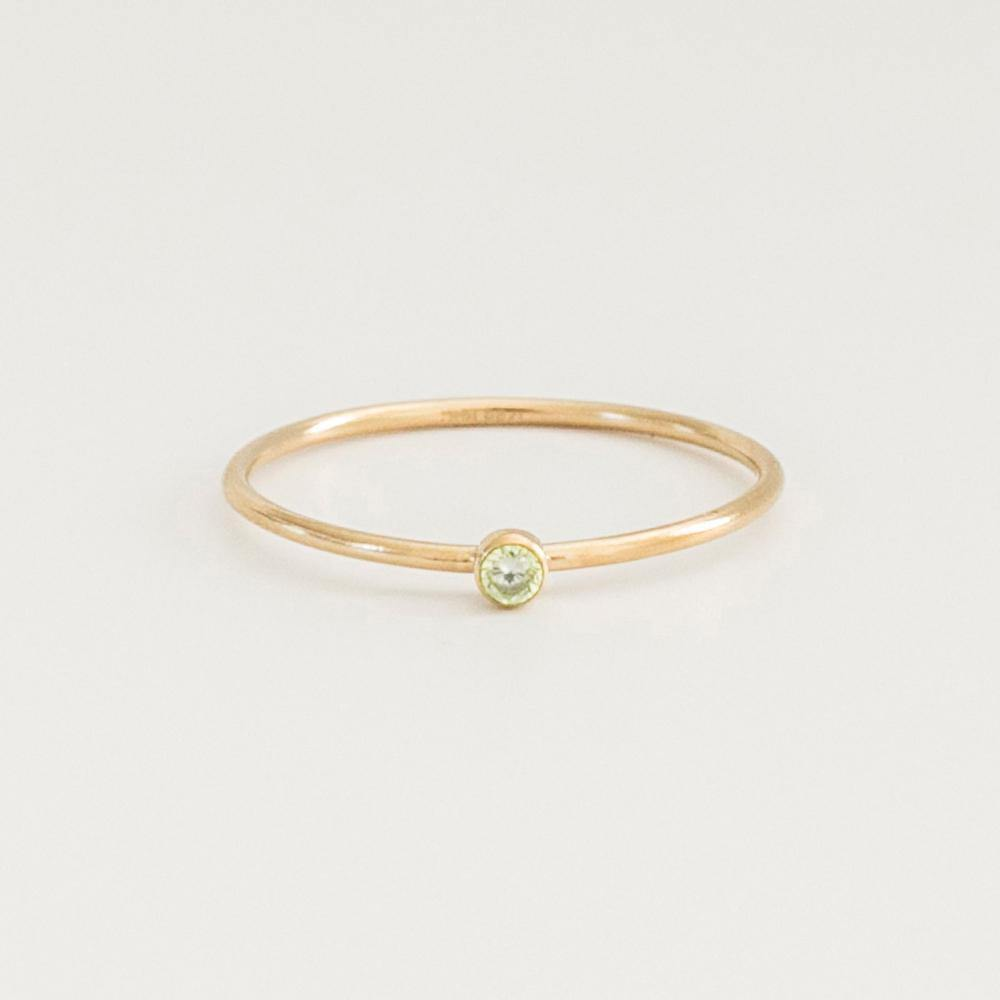 August Birthstone Ring - Gold - MBM