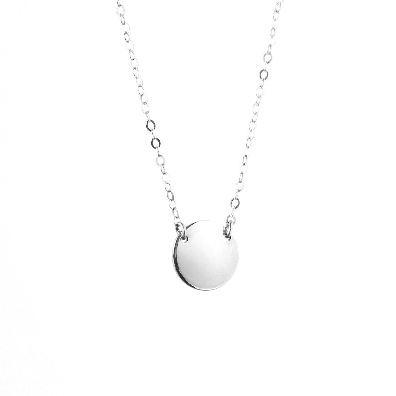 Silver Mini Zola Disc Necklace - MBM