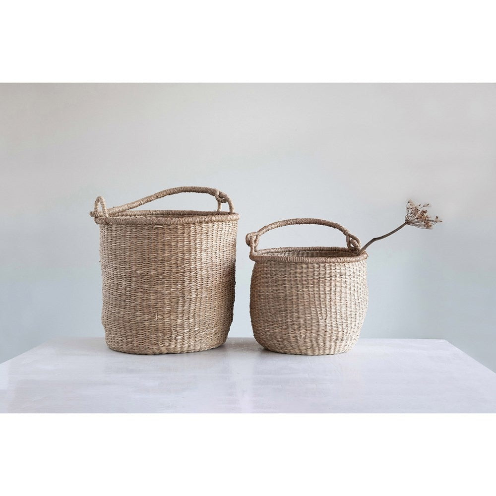Seagrass Woven Laundry Basket Set - COOP