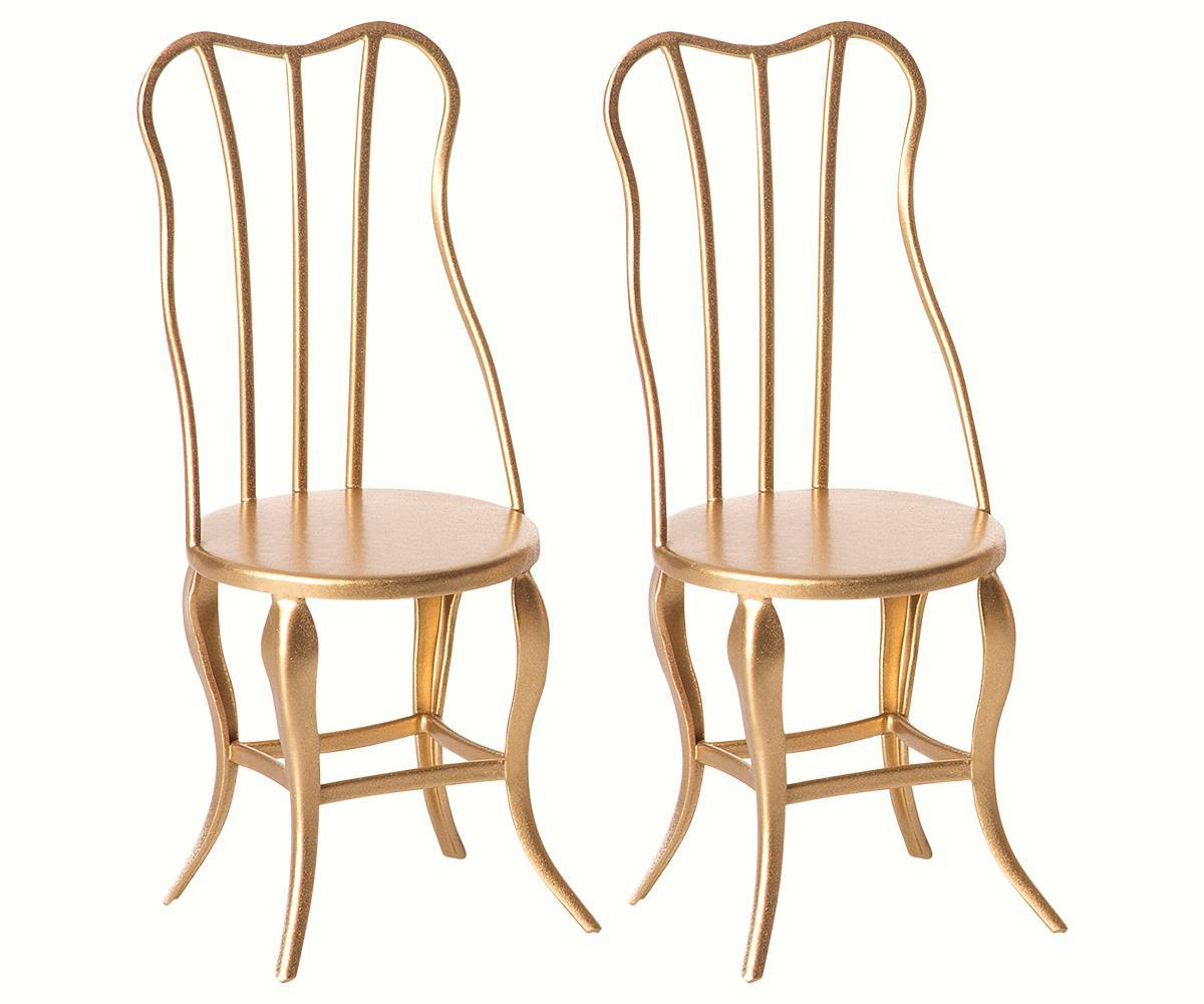 Toy 2-Pack Vintage Chair Set - Gold Micro - MAIL