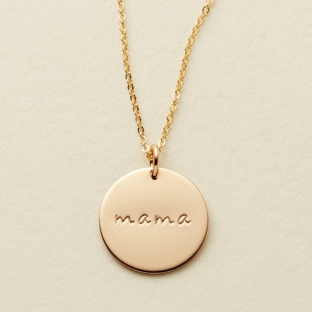 "Gold Mama 5/8"" Disc Necklace - MBM"