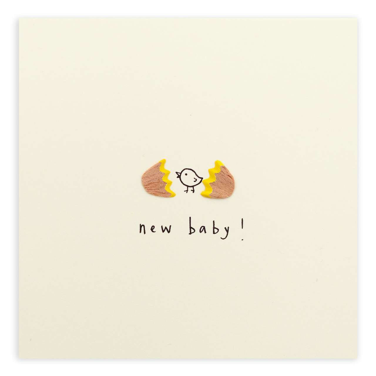 Pencil Shavings Card - New Baby Egg - RUTJ