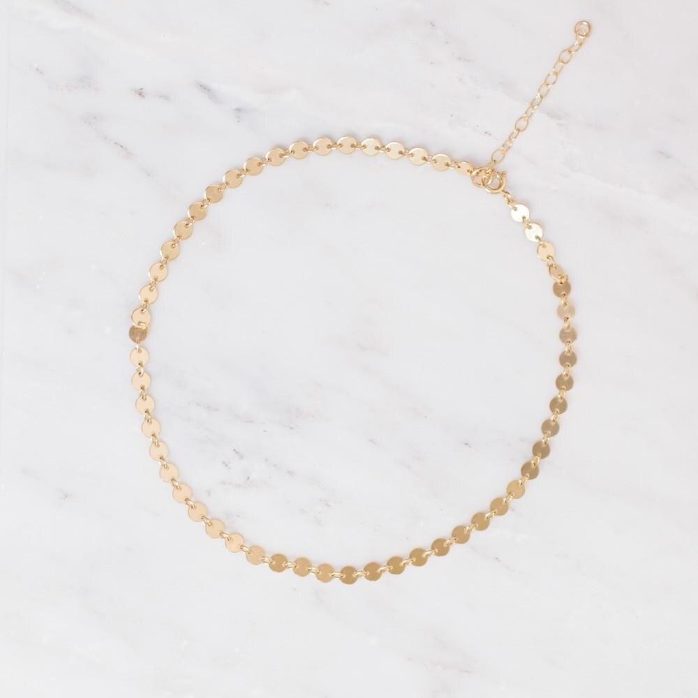 Gold Filled Poppy Choker Necklace - MBM