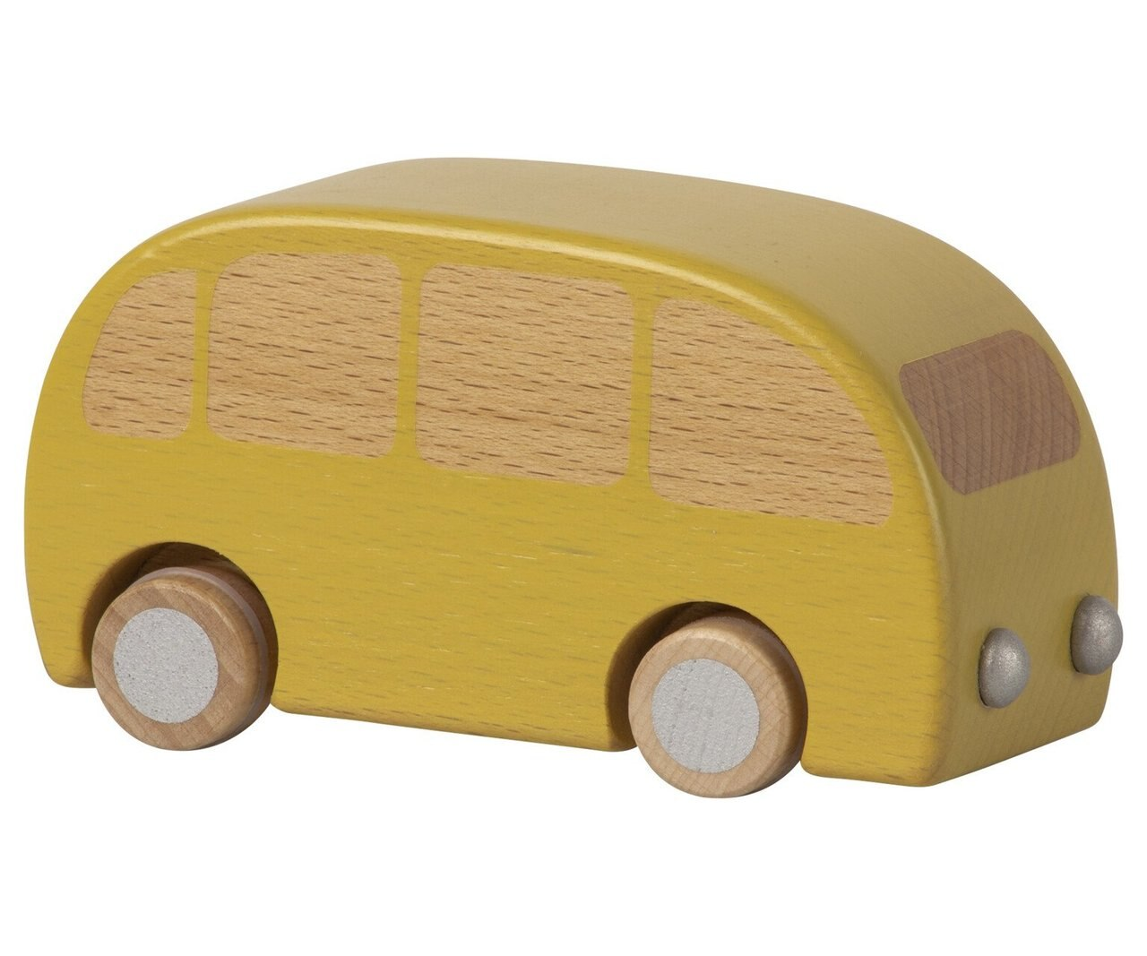 Wooden Bus - Yellow - MAIL