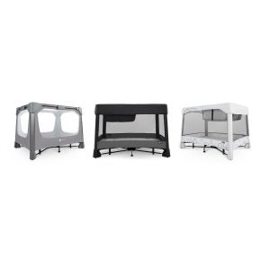 4Moms Breeze Playards (left to right) GO, Plus, Classic