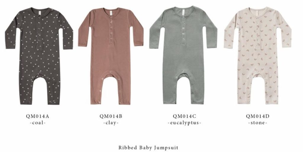 Ribbed Baby Jumpsuit - Ash