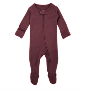 Eggplant Zipper Footed Overall