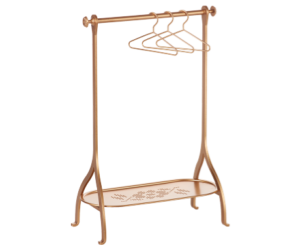 Maileg Toy Clothes Rack with 3 Hangers