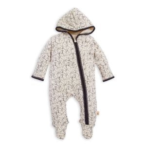 Icy Snowscape Organic Baby Jumpsuit - Ivory