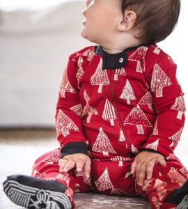 Festive Forest Organic Baby One-Piece Holiday Pajamas