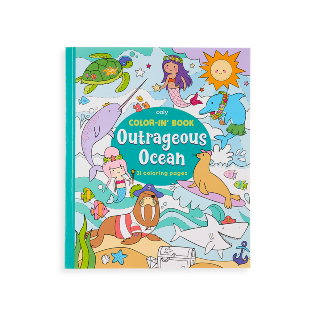 Ooly  Coloring Book in Outrageous Ocean.