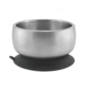Avanchy Stainless Steel Suction Bowl with Lid - Black