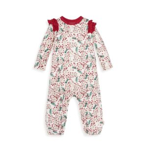 Very Berry Organic Baby Holiday Jumpsuit