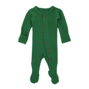 L'ovedbaby Organic Thermal Footed Overall - Emerald