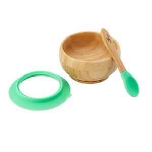 Bamboo Suction Bowl with Spoon