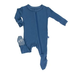 Basic Footie With Zipper - Baby Cubby