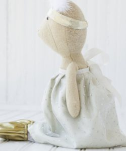 Organic Animal Doll Outfit - Silver and Gold Party Outfit