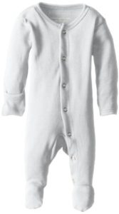 Organic Cotton Footed Overall - White