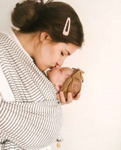 Solly Baby Wrap - Natural and Grey Stripe